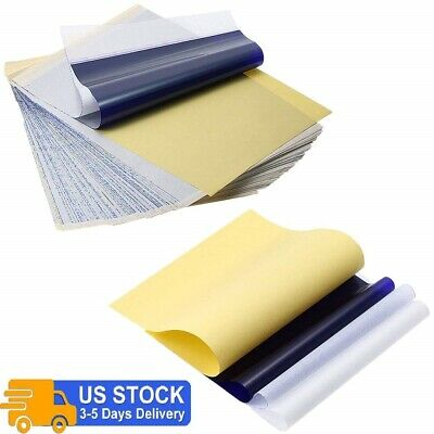 550Pcs Tattoo Transfer Paper Stencil Carbon Thermal Tracing Hectograph Sheets