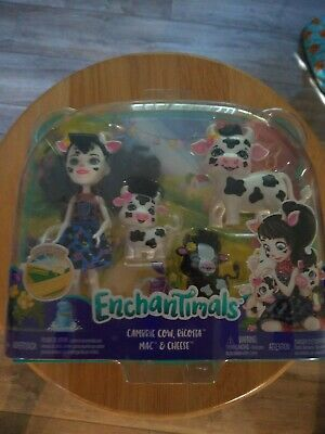Enchantimals Cambrie Cow Ricotta Mac - Cheese Doll Figures Harvest Hills