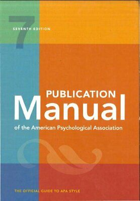 Publication Manual of the American Psychological Association - 7th Edition