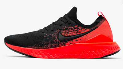 Nike Epic React Flyknit 2 Mens Running Shoes BQ8928 008 Black Bright Crimson
