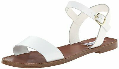 Steve Madden Womens DONDDI Leather Open Toe Casual White Leather Size 6-5 lnZb