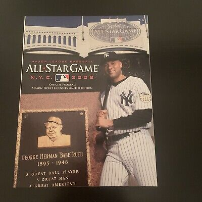 2008 MAJOR LEAGUE BASEBALL ALL-STAR GAME OFFICIAL PROGRAM LIMITED EDITION