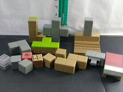 Lot Of Plastic Minecraft Blocks