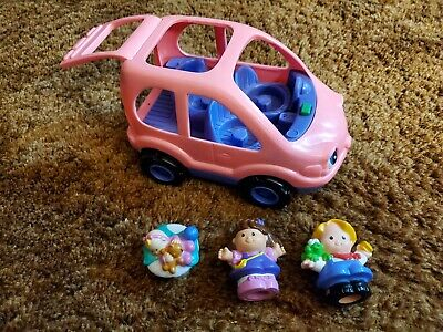 FISHER PRICE LITTLE PEOPLE PINK CAR SUV
