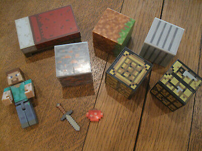 Minecraft Mixed Lot Of Figures toys 9 pcs