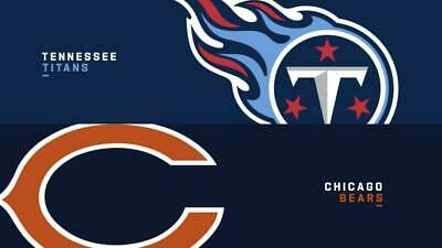 2 Tickets Tennessee Titans Vs Chicago Bears Sect 233 Row M Seats 15 - 16 11820