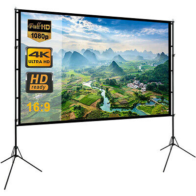 120 Portable Foldable Projector Screen 169 Outdoor Home Cinema Theater Movie