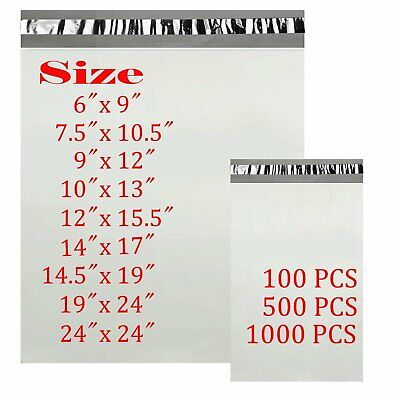 6x9 7-5x10-5 9x12 10x13 14x17 Poly Mailers Shipping Envelopes Self Sealing Bags