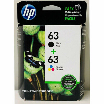 HP 63 Combo Ink Cartridges 63 Black Color NEW GENUINE