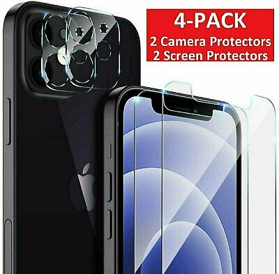 For iPhone 12 Pro Max Mini 11 Tempered Glass Screen Protector Camera Lens Cover
