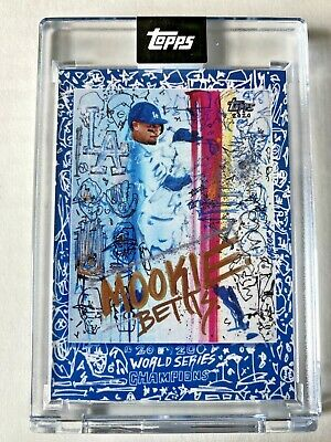 MOOKIE BETTS TOPPS PROJECT 2020 X GREGORY SIFF DODGERS WORLD SERIES 1