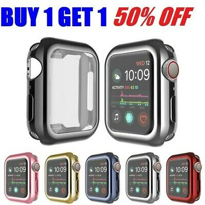 For Apple Watch Series SE 6 5 4 iWatch Screen Protector Full Cover Case 44 40mm