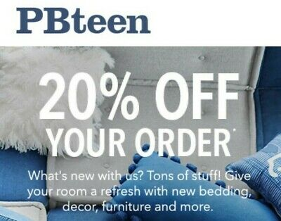 PbTeen Pottery Barn Teen 1Coupon 20 entire off include furnitures