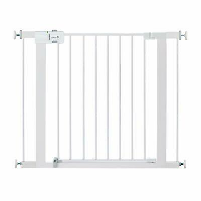 Safety 1st Easy Install Metal Baby Gate with Pressure Mount Fastening White
