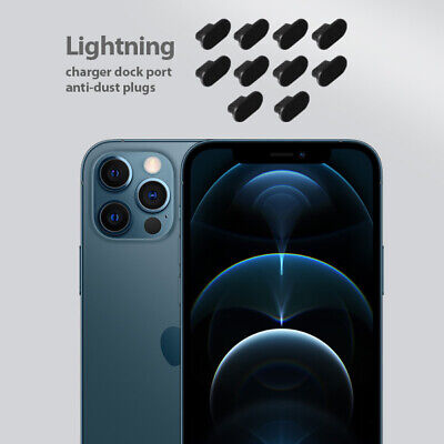 iPhone 12 Pro Charging Cover Lightning Plug Set 10 Pack Anti Dust Silicone Cap