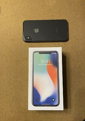 Apple iPhone X 256GB Space Gray  Factory Unlocked Used