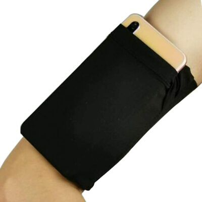 Running Armband Sleeve Comfort Phone Arm Holder with One Black