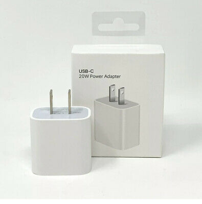 Genuine For Apple 20w USB‑C Power Adapter OEM Fast Charging iPhone iPad Charger