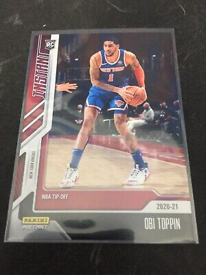 2020-21 Panini Instant NBA Tip-Off OBI TOPPIN 7 1617 Rookie RC Mint