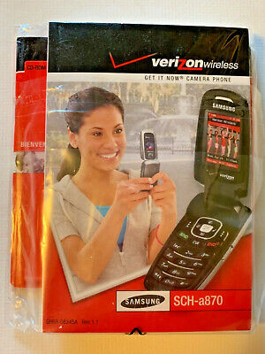 Manual for a870 Samsung Flip phone by Verizon - MANUAL ONLY-English - Spanish