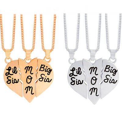 Big lil mom necklace stitching love pendant mothers day necklace
