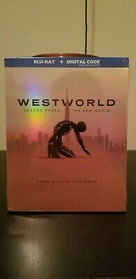 Westworld Season 3 Blu-ray - Digital w Slipcover Same day Shipping read Below