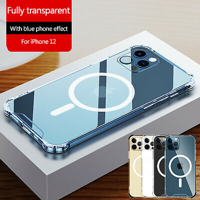Clear Magnetic Case Mag Safe For Apple iPhone 12 Pro Max 12 Mini 12 Pro Cover
