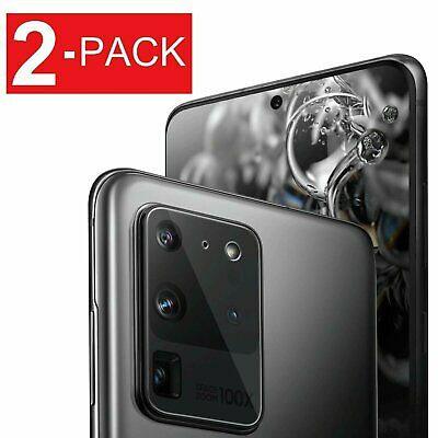 2X For Samsung Galaxy S20 Ultra S20- Tempered Glass Camera Lens Screen Protector