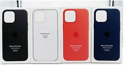 Genuine Apple Silicone Soft Case with MagSafe for Apple iPhone 12 Pro Max 6-7