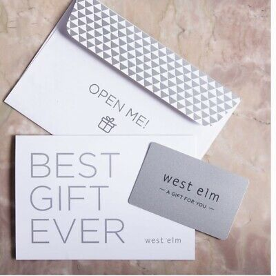 Pottery Barn  West Elm  Williams Sonoma  Gift Card  Immediate Shipping