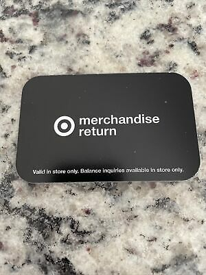 Target Merchandise Credit Card 101-89 Value- Free Shipping