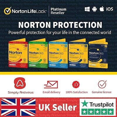 Norton Antivirus 360 Standard 1 Deluxe 3 5 Premium 10 Devices - 5 Min by Email