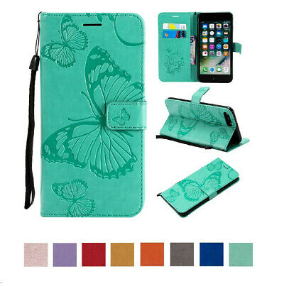 Butterfly Flip Card Cute Wallet Case PU Leather Stand Cover For iPhone 7 8 Plus
