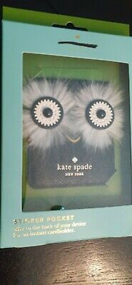 Kate Spade New York  STAR BRIGHT OWL Phone Sticker Pocket Fits Most iPhones-NWT