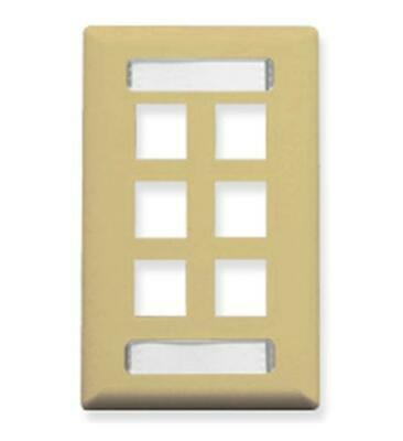 1-Gang 6-Port-Ivory Faceplate ID