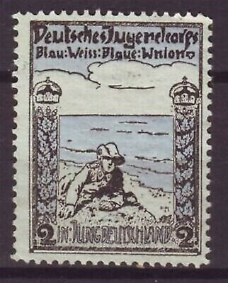 u8345 Germany Poster Stamp Label  Scout Soldier Blau-Weiss