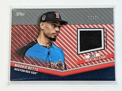 2020 Topps Update Mookie Betts All-Star Stitches Relic Red Parallel 25 Dodgers