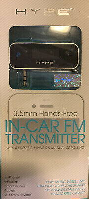New Hype In-Car FM Transmitter 3-5mm Hands-Free for iPhone - Android Phones