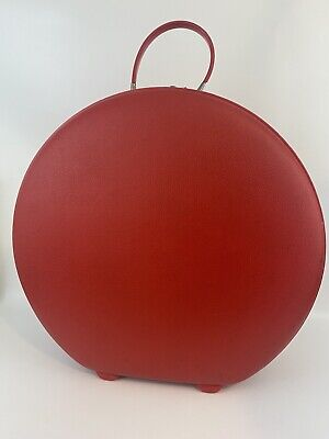 American Tourister Tiara Luggage 20 Train Hat Box Carry-On Round Red Suitcase