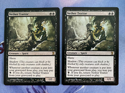 MTG Nether Traitor x2 Time Spiral NM