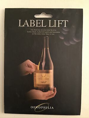 OENOPHILIA Label Lift -10 sheets - 5x6  Wine bottles - New