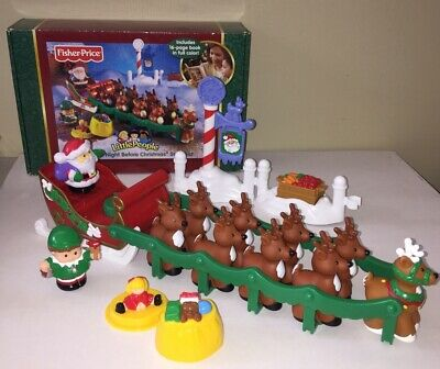 Fisher Price Little People - Twas The Night Before Christmas Set- tested