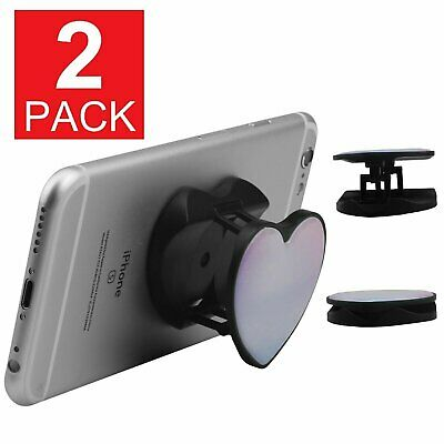 2-Pack Phone Grip Faux Marble Phone Expanding Holder Grip Mount Stand Heart