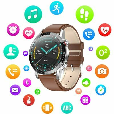 Mens Smart Watch ECG Heart Rate Monitor Activity Tracker for iOS iPhone Android