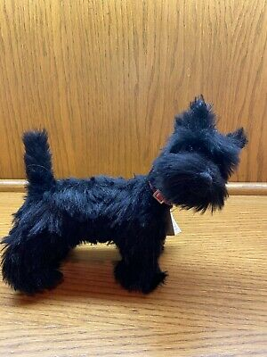 9 Inch Black Mohair Scottie Dog by Artists of The Bear Lady