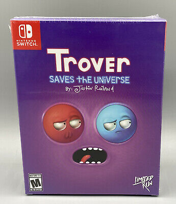 Trover Saves The Universe Switch Limited Run Games 90 Collector's Edition NEW