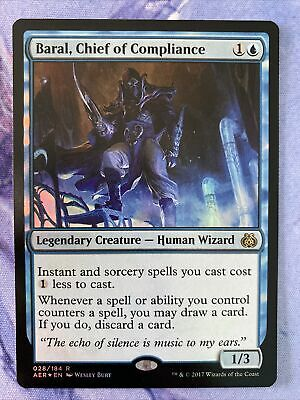 Baral Chief of Compliance FOIL Aether Revolt NM Blue Rare Mtg