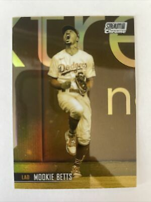 MOOKIE BETTS SSP Case Hit 2021 Topps Stadium Club CHROME GOLD MINTED Dodgers