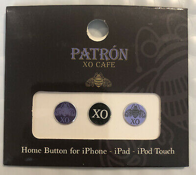 Patron XO Cafe Advertising- HOME BUTTON STICKERS iPhoneiPaditouch 2 Packs Of 3