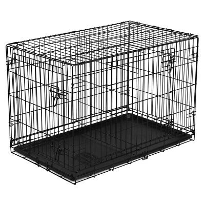 Vibrant Life Double-Door Folding Dog Crate with Divider X-Large 42